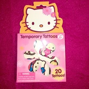 Hello kitty costume tattoos. NWTs. Pack of 20
